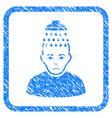 head shower framed stamp vector image vector image