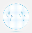 heart beats cardiogram blue icon vector image