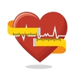 heart rate measure tape fitness health vector image