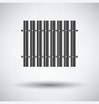 icon of construction fence vector image vector image