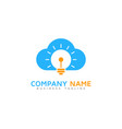 idea cloud logo icon design vector image vector image