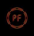 initial letter pf logo design template pf letter vector image vector image