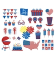 July 4 icons Independence Day of USA colors vector image vector image