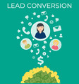 lead conversion flat vector image