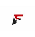 Letter F logo icon design template vector image vector image