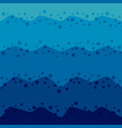 marine background with waves and bubbles vector image
