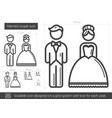 married couple line icon vector image vector image