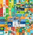 Mega collection of flat web infographic concepts vector image vector image