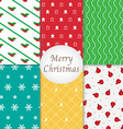 Merry Christmas Pattern Background Collection vector image vector image