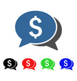 money chat icon vector image vector image