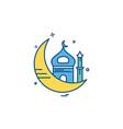 mosque icon design vector image vector image