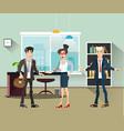 office people teamwork brainstorming in flat vector image vector image