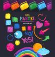 oil pastel vector image