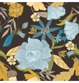 Pattern With Vintage Flowers vector image