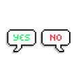 pixel text bubble speech bubble icon vector image