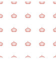 pumpkin icon pattern seamless white background vector image vector image