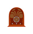 radio retro vintage old music media broadcast vector image