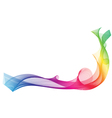 Rainbow ribbon wave on white background vector image