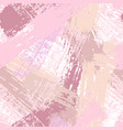 seamless pattern with pastel pink brush strokes vector image vector image