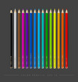 set isolated of color pencil vector image
