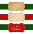 Set Vintage Christmas Labels vector image vector image