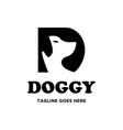 simple dog logo vector image