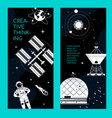space theme - set modern vertical banners vector image vector image
