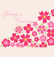 spring background spring is coming eps 10 vector image vector image