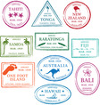Tropical passport stamps vector | Price: 1 Credit (USD $1)