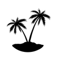 Two palms island vector image vector image