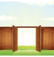 village timber gate image for your design vector image vector image