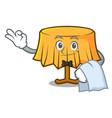 waiter table cloth mascot cartoon vector image