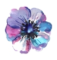 Watercolor of blue flower isolated vector image vector image