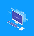 web software development concept programming and vector image vector image
