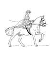 women ride vector image