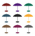 yelow-green beach umbrella icon in black style vector image