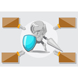 Knight Security Protect Guard Safe vector image
