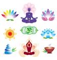 oriental icons set vector image