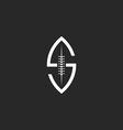Football ball logo S letter creative idea rugby vector image