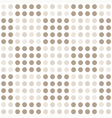 Seamless geometric pattern with square of circles vector image