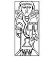 an old celtic symbol of saint luke vector image vector image