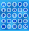 augmented reality solid circle icons vector image vector image