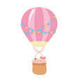 baby shower cute babies in hot air balloon vector image vector image