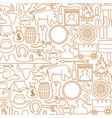 background pattern with wild west icons vector image vector image