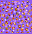 background seamless shiny gems different cuts vector image vector image
