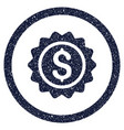 banking stamp rounded grainy icon vector image vector image