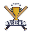 baseball trophy winner icon vector image vector image