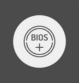 bios battery icon sign symbol vector image