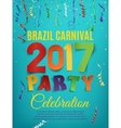 Brazil Carnival 2017 party poster template vector image vector image