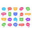 bubble labels abstract doodle speech bubbles vector image